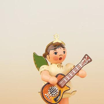 Engel mit Westerngitarre 6,5 cm